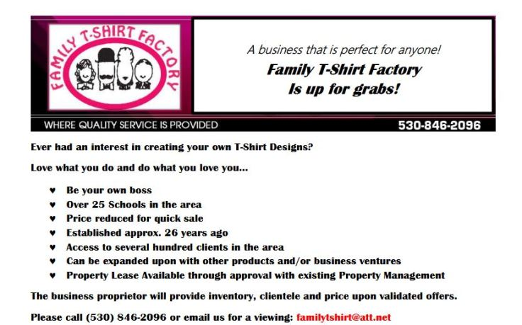 Tshirt flyer