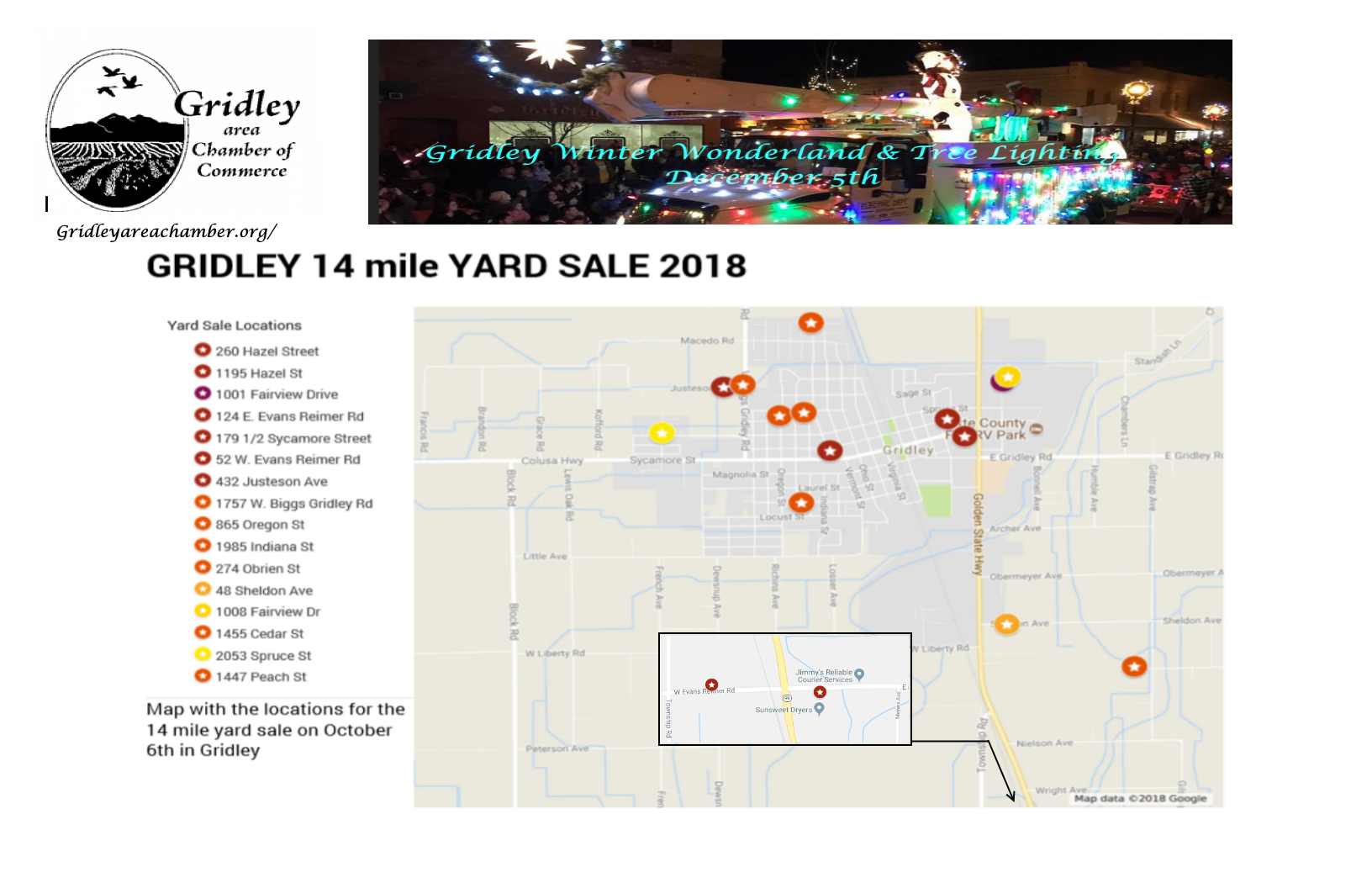 Gridley Yard Sale « Gridley Area Chamber of Commerce